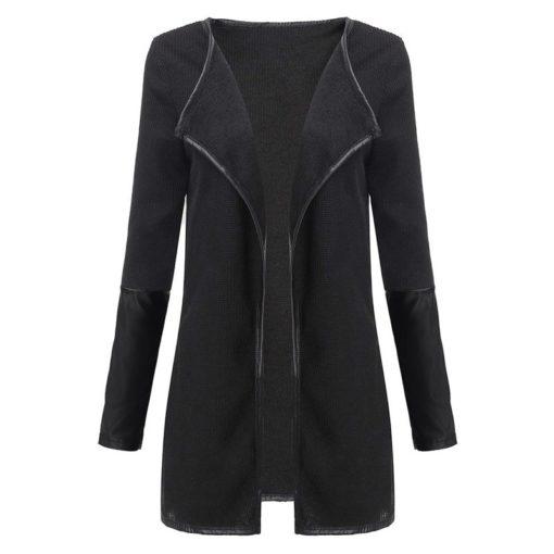Leather Sleeve Jacket1