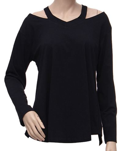 long-sleeve-casual-v-neck-blouses