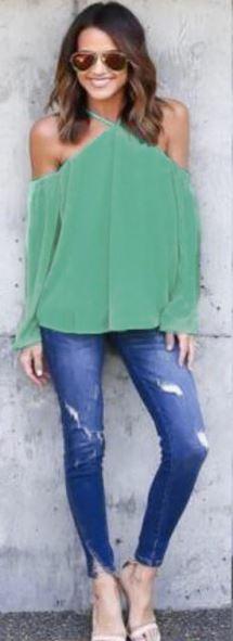 spaghetti-strap-off-shoulder-blouse