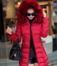 2016 new winter jacket women cotton long Slim thin down coat feather padded jacket Nagymaros collar coats thick vestidos2