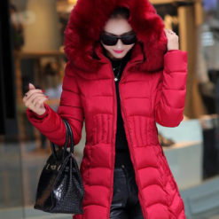 2016 new winter jacket women cotton long Slim thin down coat feather padded jacket Nagymaros collar coats thick vestidos2