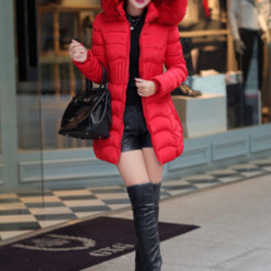 2016 new winter jacket women cotton long Slim thin down coat feather padded jacket Nagymaros collar coats thick vestidos4