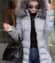 2016 new winter jacket women cotton long Slim thin down coat feather padded jacket Nagymaros collar coats thick vestidos5
