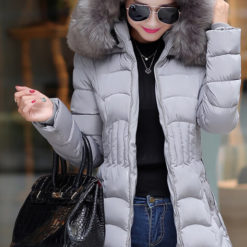 2016 new winter jacket women cotton long Slim thin down coat feather padded jacket Nagymaros collar coats thick vestidos5