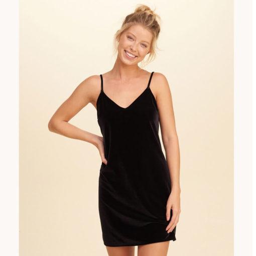 Brand Sexy Velvet Womens Dresses Spaghetti Strap Elegant Sleeveless Mini Night Vintage Soft Slip Sleep dress Clothing