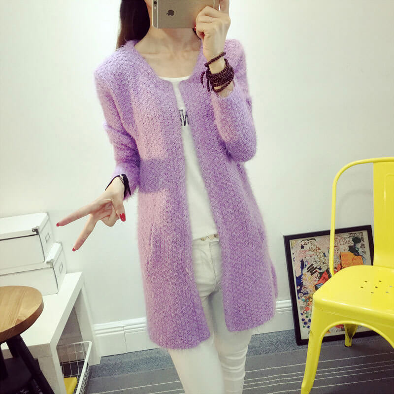 Long Loose Jumper Knit Cardigan Thicker Sweater Fabtag