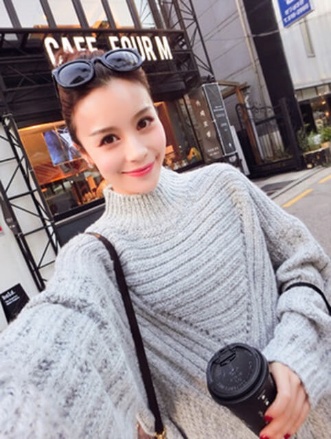 Pullover Large Size women s Korean Version Of The Thick Loose Jumper Female  half-high Collar 6f7a0672c