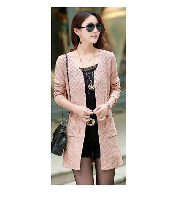 Knit Cardigan in 2019 exterior t Pink ladies Knit 5857ba9a5