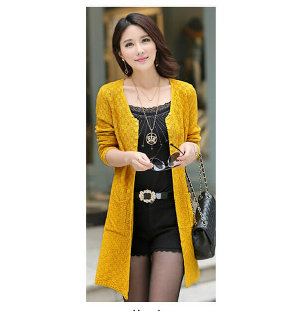 New Long Outer Jumper Loose Knit Cardigan Sweater - Fabtag