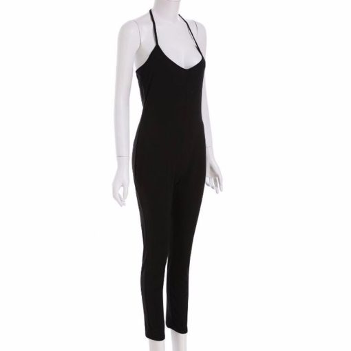 Women Jumpsuit 2016 Summer Fashion Sexy Sleeveless Simple And Elegant Bodycon Slim Playsuit Macacao Feminino