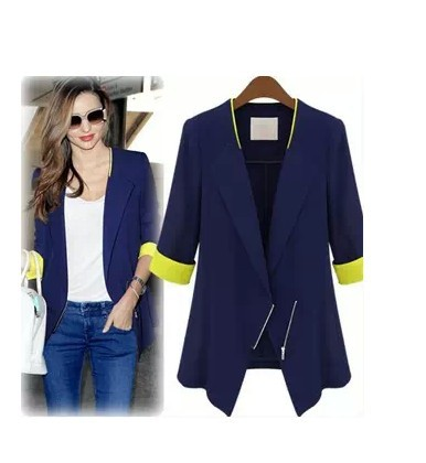 Women coat Seven new autumn wear women's clothing Korean cultivate one's morality sleeve small suit The thin coat