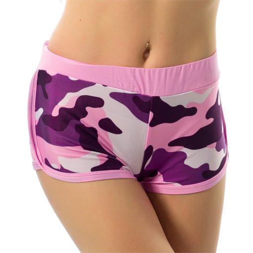 2017 Summer Shorts Women Burst Western Fitness Feminino Models Camouflage Print Short Vestidos