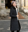 2017 new winter coat Korean version long female fashion Slim Down coat padded jacket women coats clothing vestidos2