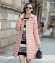2017 new winter coat Korean version long female fashion Slim Down coat padded jacket women coats clothing vestidos3