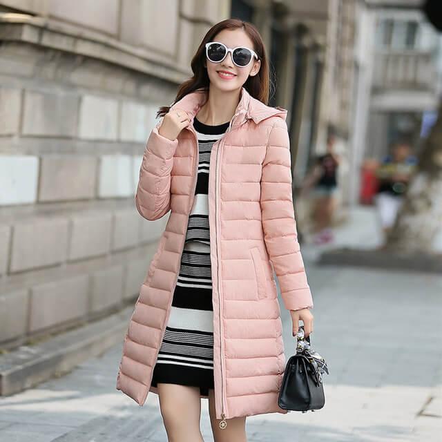 long slim down coat padded jacket fabtag