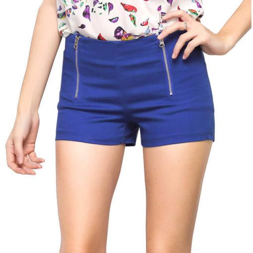 2017 summer short feminino explosion models Europe America candy color casual Slim double zipper shorts women vestidos