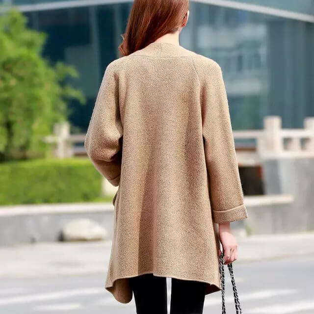 Long Pull Loose Leisure Wild Knit Cardigan Jacket Jumper - Fabtag