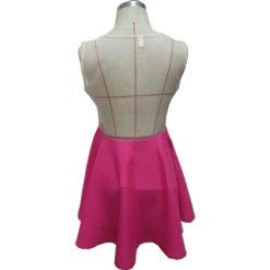 Summer dress 2017 new summer style vestido female red gauze patchwork sleeveless o-neck mini lace dresses vestidos3
