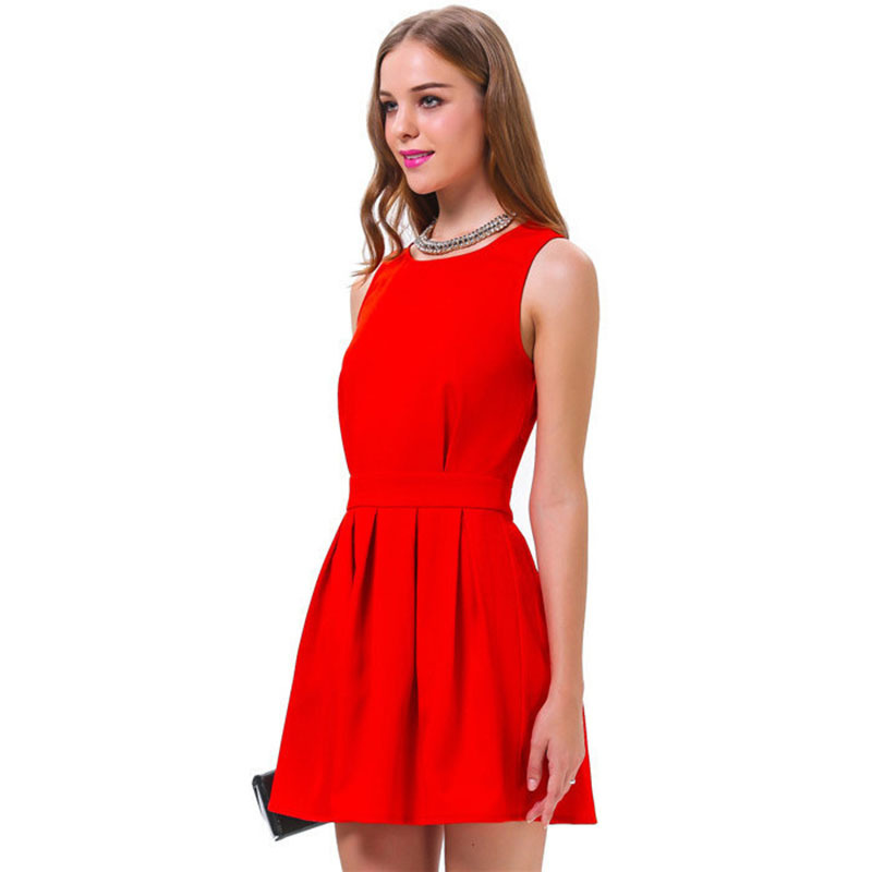 c05e8435c3b3 Summer dress wedding party 2017 new summer style red Fashion hot-selling  elegant dress casual