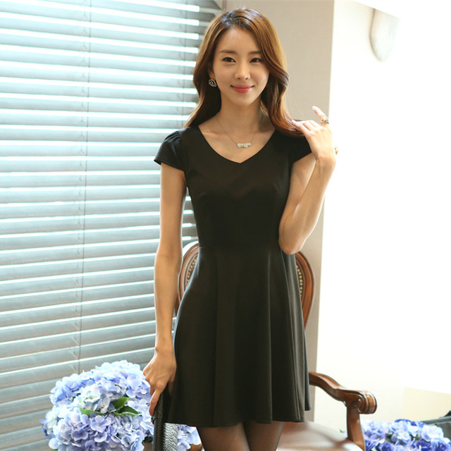 New Arrival V Neck Casual Tank Dress Fabtag