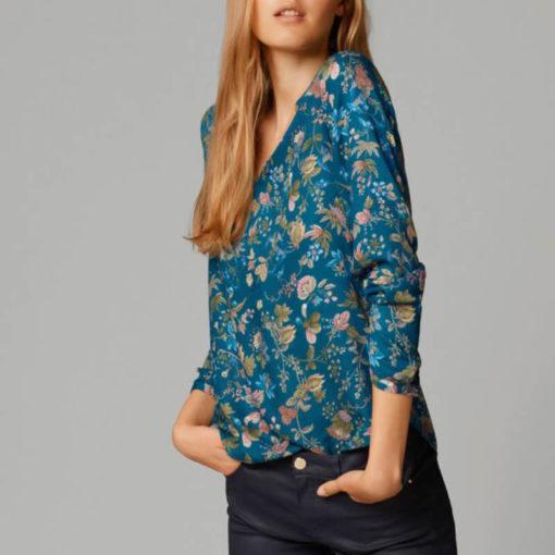Hot hot style fashion national wind easing v-neck long-sleeve printing