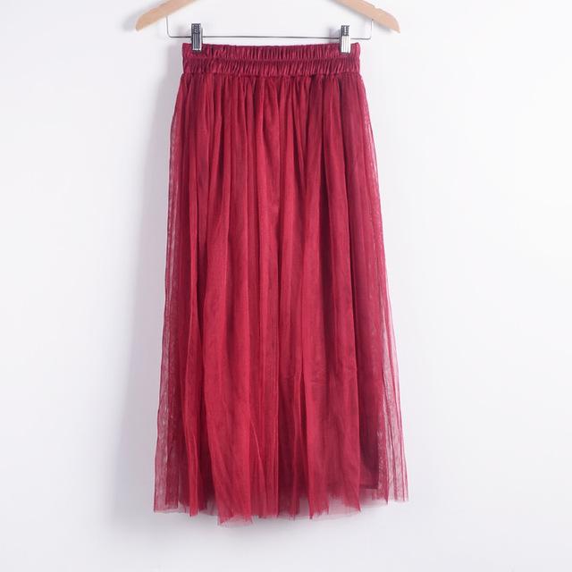 5cead307cc Korean women's skirts new double-layer mesh faldas veil long big yards tulle  bottoming maxi