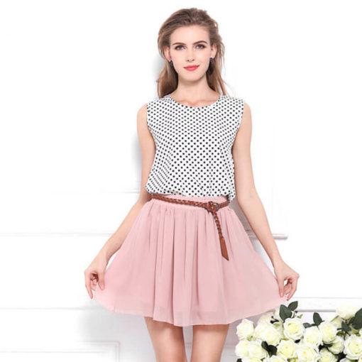 New skirts womens foreign trade Europe America female high waist pleated double layer tulle mini skirt faldas vestidos