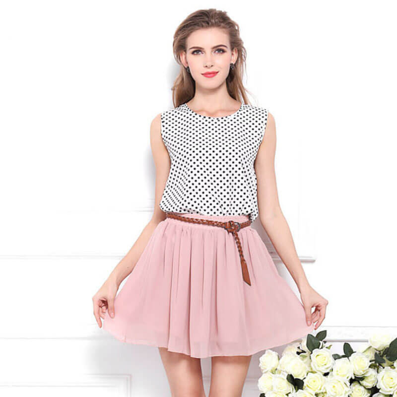 New high waist pleated double layer mini skirt - Fabtag 07f089c9677