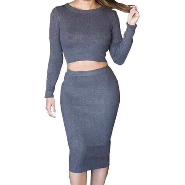 de2f8201ef5fd Summer dress 2017 new explosions elegant slim cotton long sleeve wool knit  dresses plus size vestidos3