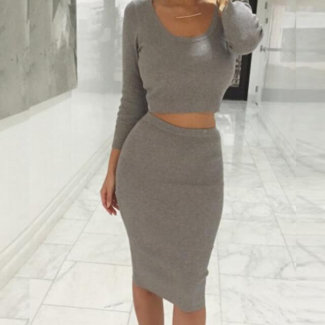 03fb6c581f5ef Summer dress 2017 new explosions elegant slim cotton long sleeve wool knit  dresses plus size vestidos4