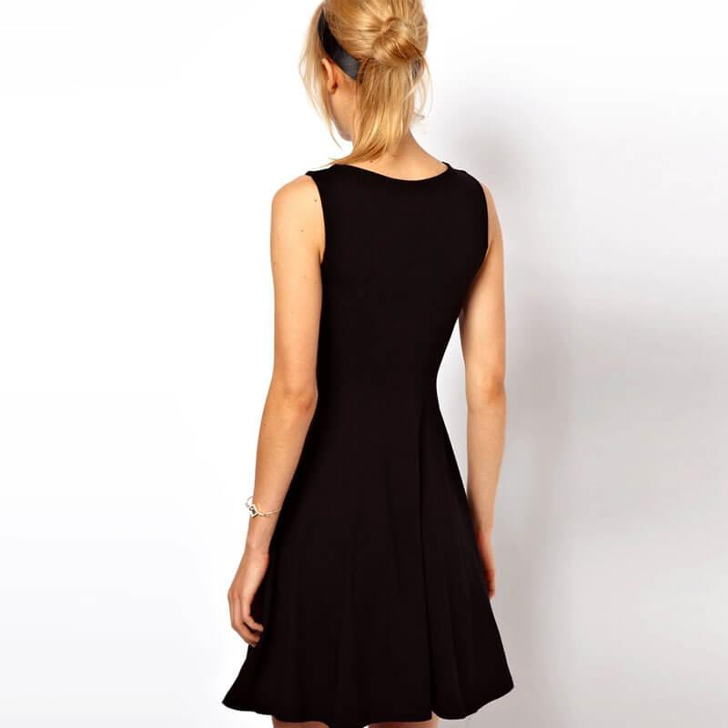 84af3a021974f Summer dress 2017 new summer style Fashion elastic waist slim tube top  sleeveless tank black mini