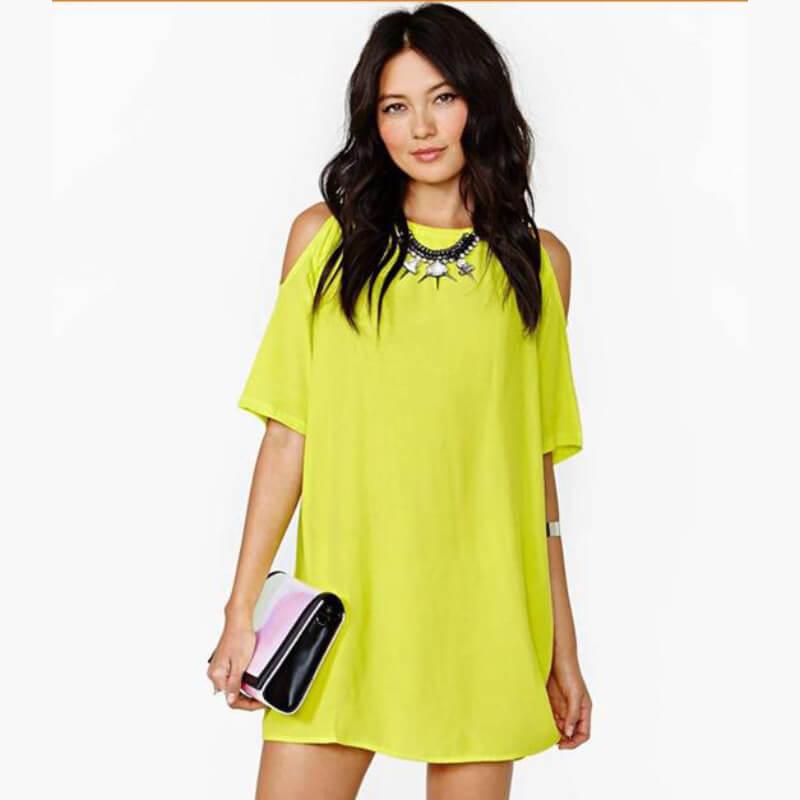 0f54c1b8615 New strapless chiffon loose mini dresses - Fabtag