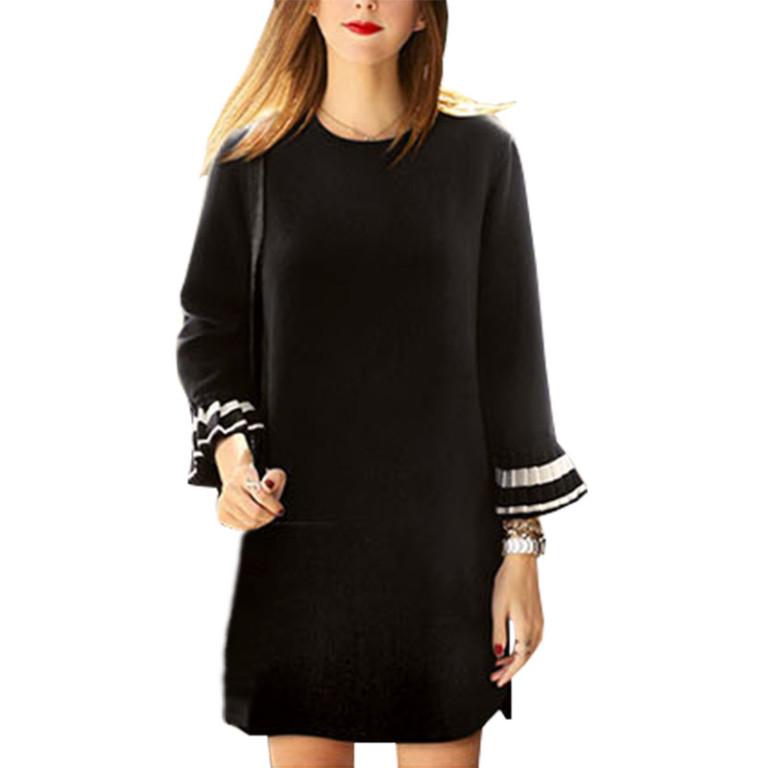 2017 Spring Dress New Korean Version Large Size women's Vestido Chiffon Bottoming Shirt Dresses Clothing Vestidos