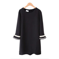 2017 Spring Dress New Korean Version Large Size women's Vestido Chiffon Bottoming Shirt Dresses Clothing Vestidos2