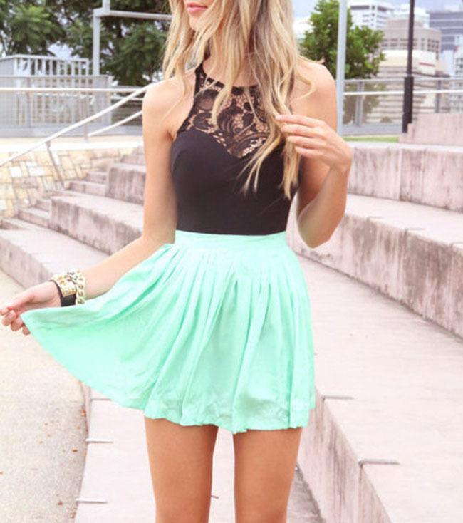 2017 new summer dress stitching Lace Chiffon sleeveless waist slim dresses