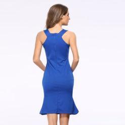 2017 spring summer dresses Europe America Slim new strap dress sexy vestido nightclub flounced fishtail pencil vestidos2