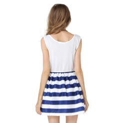European America women summer dresses new navy sailor slim vest vestido striped cotton strap dress burst models vestidos2