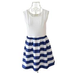 European America women summer dresses new navy sailor slim vest vestido striped cotton strap dress burst models vestidos3