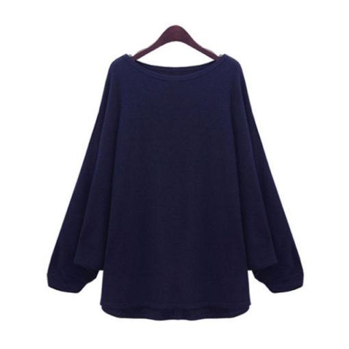 European sweater women bat shirt strapless pullover loose jumper long-sleeved knitting sweaters jacket clothing vestidos2