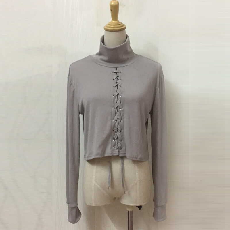 1c68cf4f5 Express High Collar Jacket Short Shirt Bandage Clothing - Fabtag