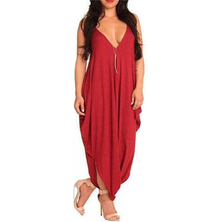 Sexy dress 2017 fashion deep v backless sexy dress European fashion Club loose strap size spot dresses vestidos