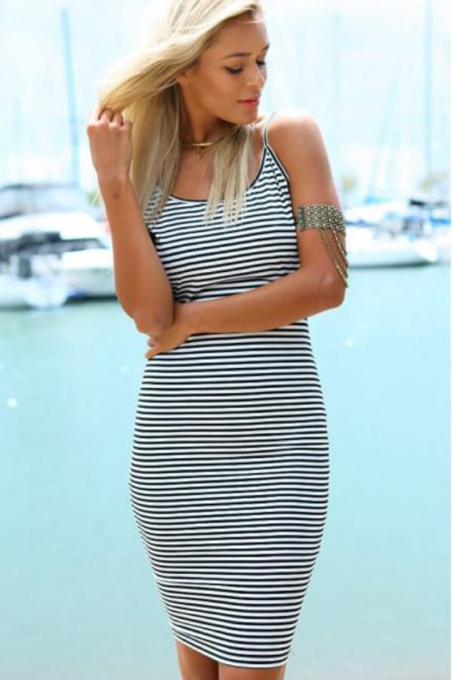 Speed sell pass hot style Good quality of the new Europe and the United States sling bag hip stripe dress vestidos4