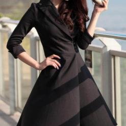 Spring 2017 new women's waist slim slim mini dress size temperament women's clothing2