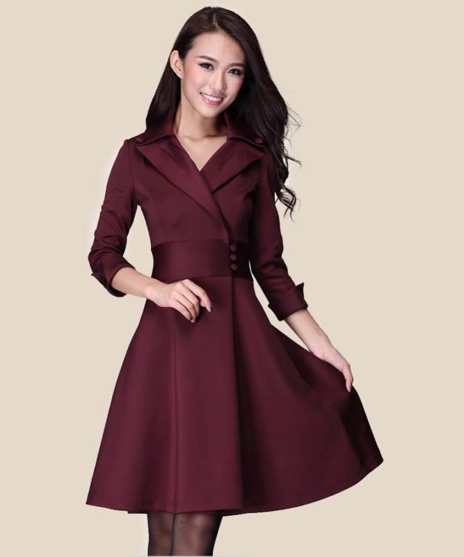 Spring 2017 new women's waist slim slim mini dress size temperament women's clothing3