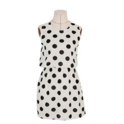 Women Summer dress 2017 new summer style O-Neck Sleeveless Slim Dot Print Chiffon Plus Size 2XL cheap vestidos dresses5