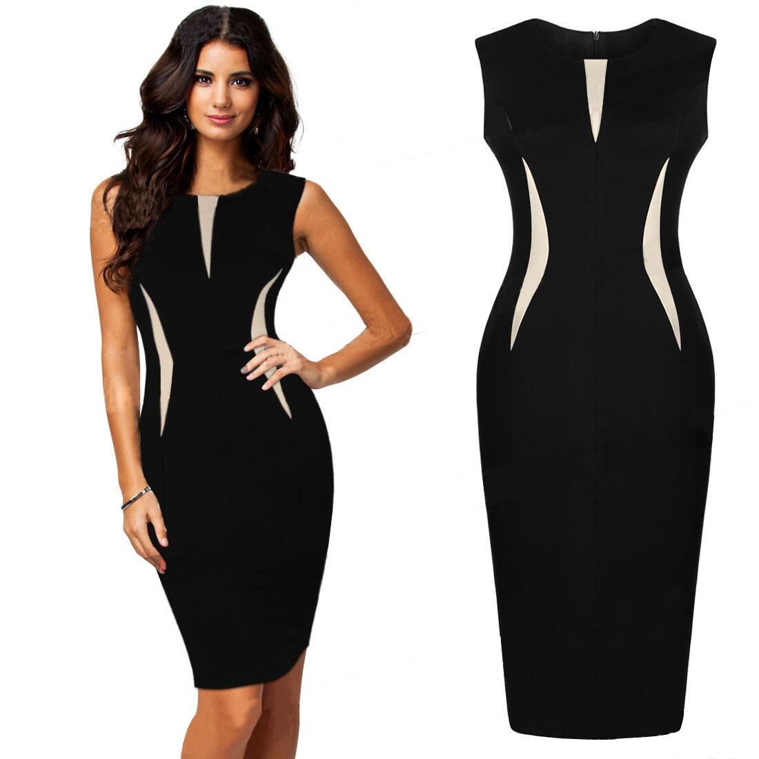 d868b37531d9 New casual patchwork zipper dresses - Fabtag