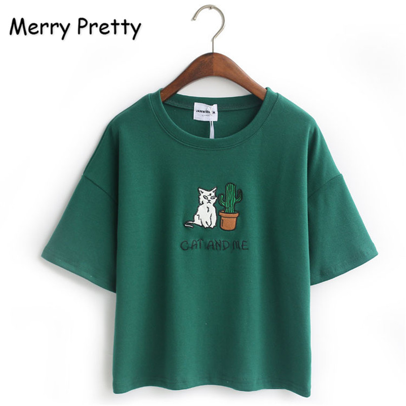 c486baf2c74da2 Merry Pretty Harajuku t shirt women Korean style t-shirt tee kawaii ...