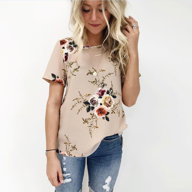 47f41f47d51 Large Size New Brand Summer T Shirt Women Fashion Casual Vintage Floral  Print Tshirt Plus Size Elegant Office Tees Top Female - Fabtag